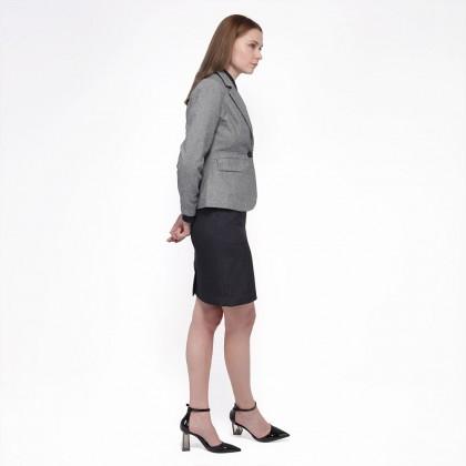 Nicole Exclusives - Classic Blazer-Light Grey